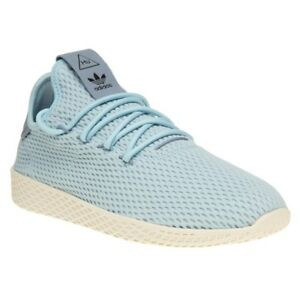 83ca75d7b307 New Girls adidas Blue Pharrell Williams Tennis Hu Nylon Trainers ...