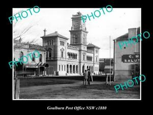 OLD-LARGE-HISTORIC-PHOTO-OF-GOULBURN-NSW-VIEW-OF-THE-POST-OFFICE-c1880