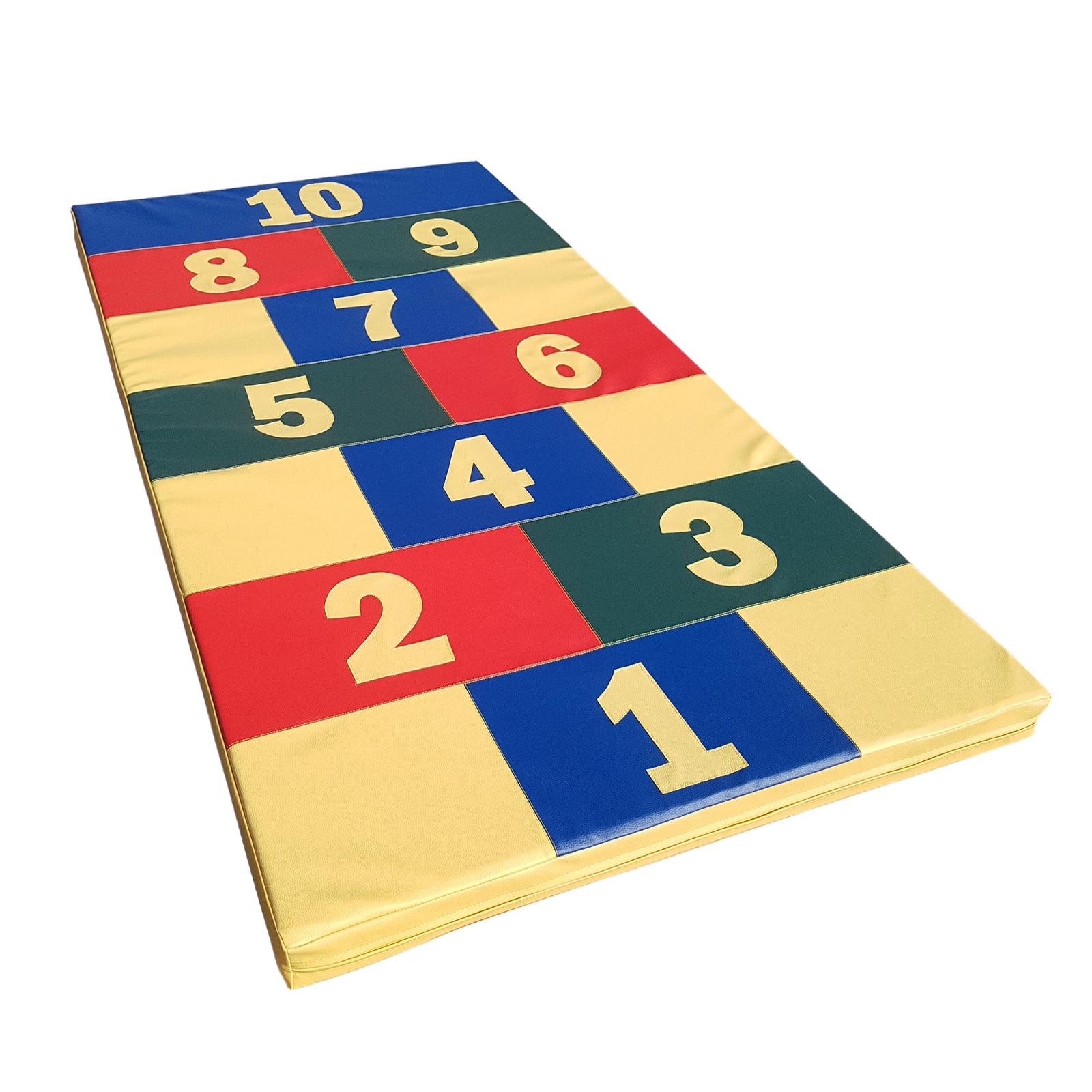 Turnmatte Spielmatte Gymnastikmatte Fitnessmatte  Hopscotch  200 x 100 x 8 cm