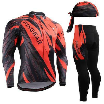 FIXGEAR CS-6801 SET Cycling Jersey & Padded Pants MTB Bike BMX Beanie Free GIFT
