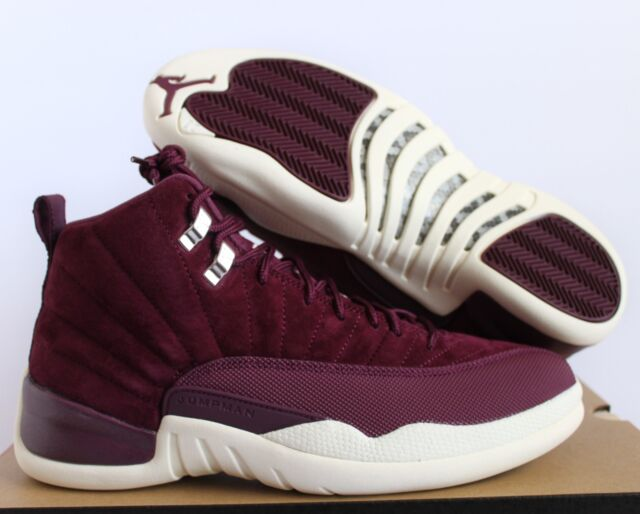hot product designer fashion sports shoes Nike Air Jordan Retro 12 XII Bordeaux Maroon Suede Shoes Mens 11 DS 11.5