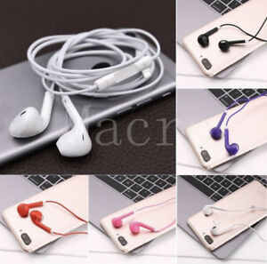 10 / 50/ 100x Lot Mix Color Earphones Earbuds Headsets Headphones Remote & Mic