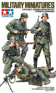 TAMIYA-GERMAN-WWII-INFANTRY-SET-FRENCH-CAMPAIGN-Scala-1-35-Cod-35293