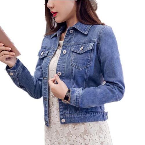Denim Jackets Short Vintage Casual Coat Jeans Spring Winter Autumn Women Fashion