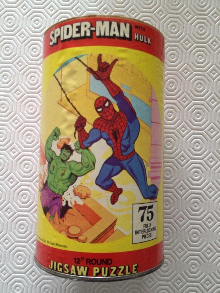 Spiderman - hulk round puzzle 1974 HG toys