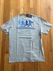 NWT-Men-039-s-Vineyard-Vines-Gray-Baseball-Swing-Whale-Pocket-T-Shirt-Size-2XL