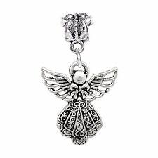 Filigree Guardian Angel Holiday Christmas Dangle Charm for European Bracelets