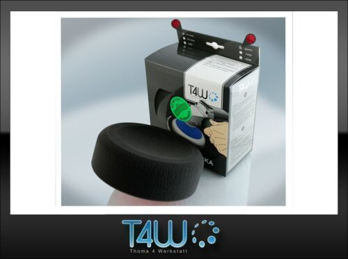 """T4W Polishing pad sponge """"profiled"""" 150×50 mm M14 thread /  black (soft)"""