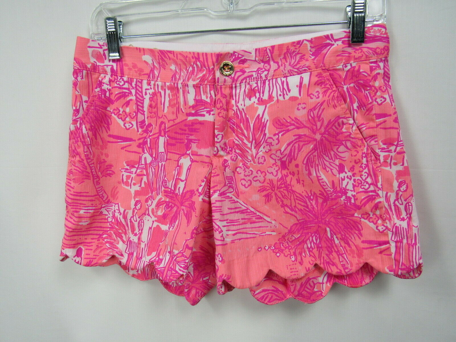 LILLY PULITZER Buttercup Rule Breakers Coral Pink Print Cotton 5