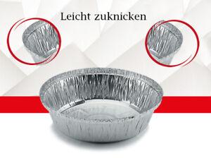 Aluschalen Grill rund mit Deckel ohne Deckel Grillschale Aluminium Schale 18x4cm
