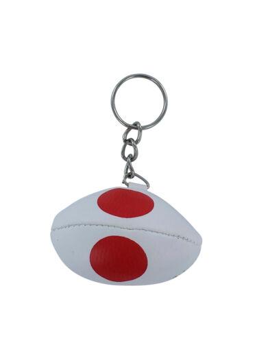 PORTACHIAVI pelle porta chiavi auto pallone rugby bandiera Giappone maglia polo