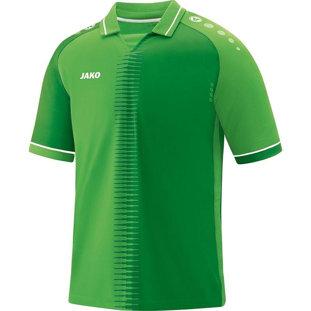 Jako Football Soccer Mens Short Sleeve SS Jersey Shirt Top Training Sports verde