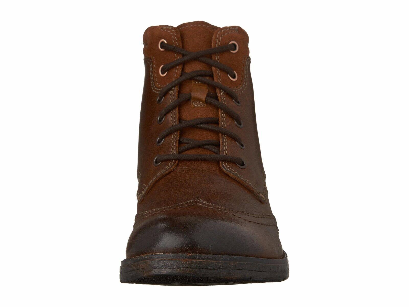 Clarks Uomo Devington Hi Wingtip Lace Up Stivali Business Casual Ankle Stivali Up Dress Shoes f7d3d6