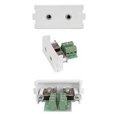 2x 3.5mm Jack Socket Module/Modular Wall Face Plate-Audio Headphone iPod AUX AMP