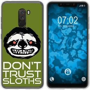 Pocophone-F1-Coque-en-Silicone-Crazy-Animals-sloth-M3-Case