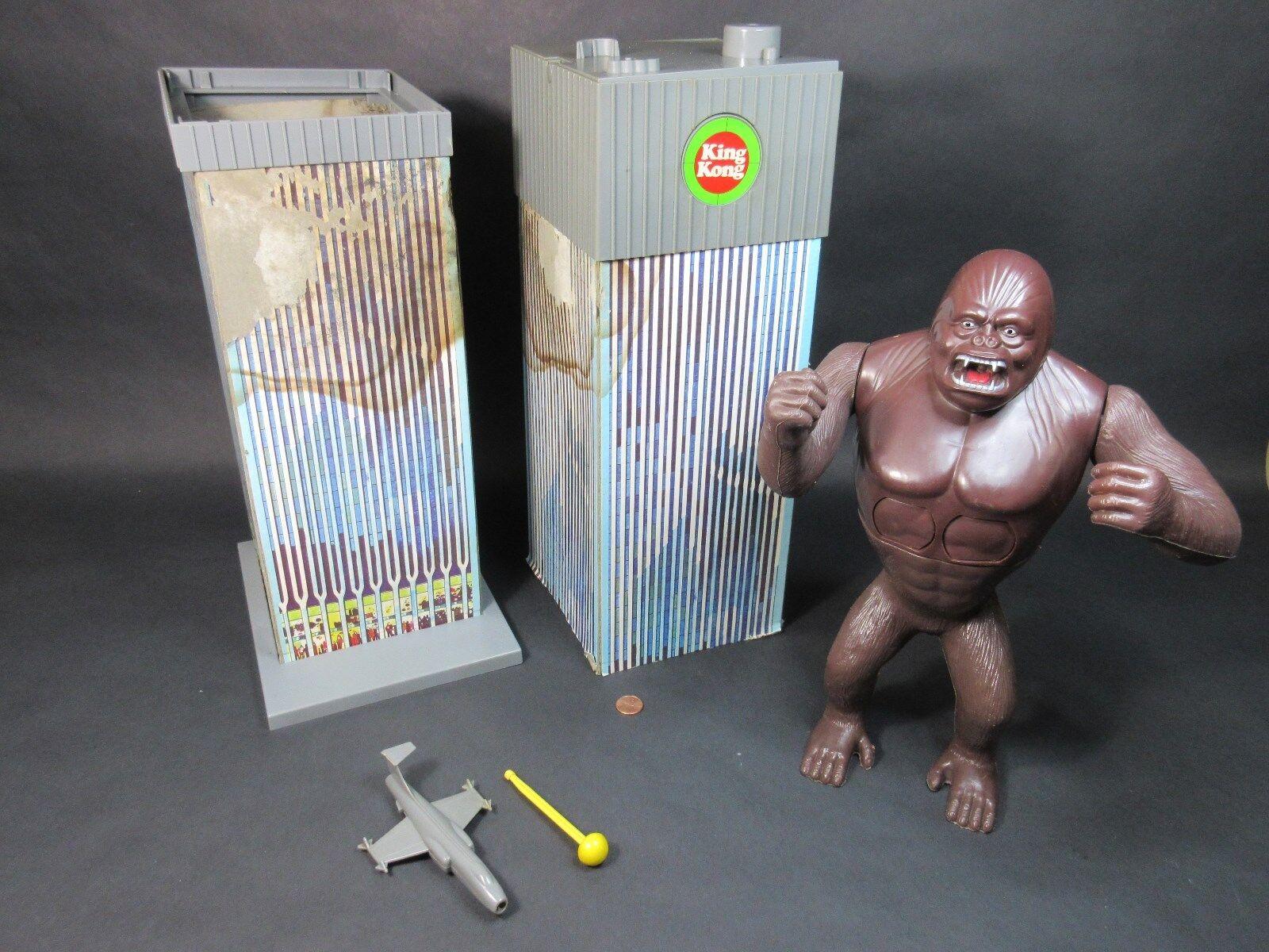 King Kong Mot värld 1976 Mego w   låda RARE värld Trade Center Arbetar