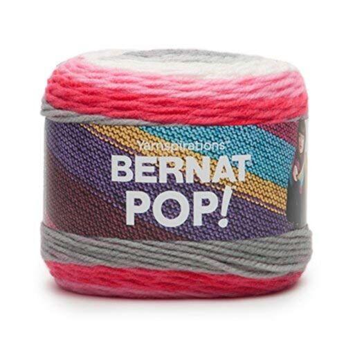 Bernat lápiz labial en el cuello Pop Aran Hilo 15 X 15 X Acrílico Multi-color