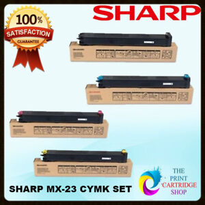 Original-Sharp-MX23GTBA-MX23GTCA-MX23GTMA-MX23GTYA-TONER-SET