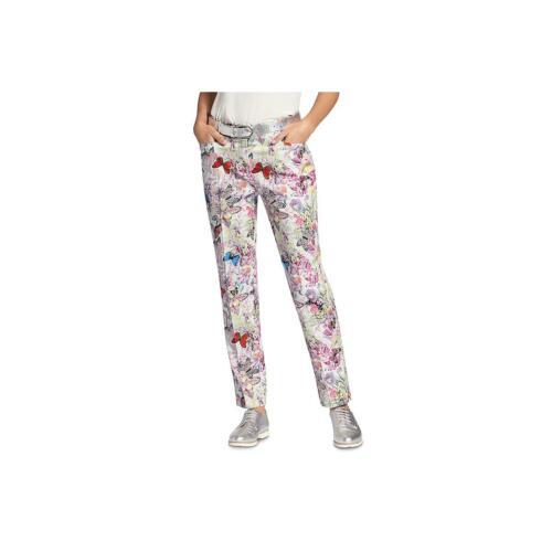 Basler Womens Floral Cotton Casual Straight Leg Pants BHFO 5208
