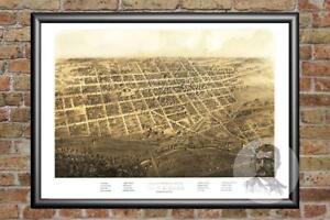 Old-Map-of-Marshall-MI-from-1868-Vintage-Michigan-Art-Historic-Decor