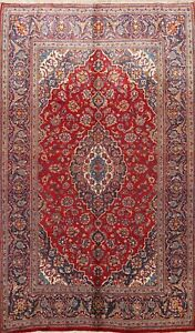 Vintage Floral Traditional Area Rug Wool Hand-knotted Oriental RED Carpet 7x9