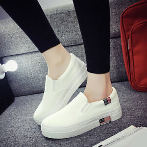 Ladies-Canvas-Lazy-Shoes-Casual-Women-Flats-Shoes-Low-Top-Platform-Sneakers