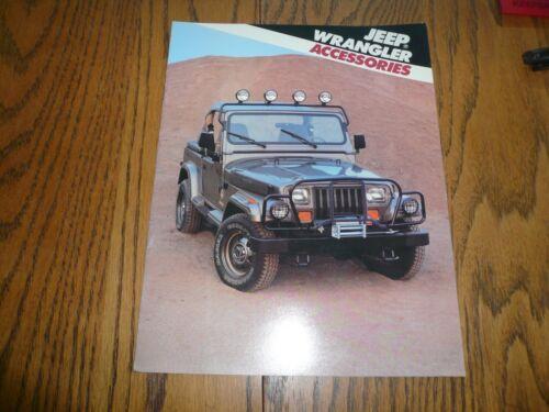 1988 Jeep Wrangler Accessories Sales Brochure Vintage