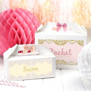 Details About Personalised Will You Be My Bridesmaid Gift Box Elegant Lace Wedding Favour