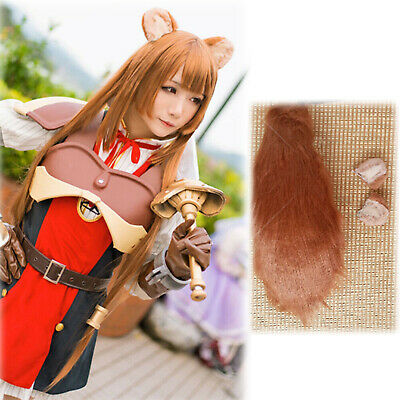 The Rising of the Shield Hero Raphtalia Cosplay Brown Round Ear Racoon Bear Prop