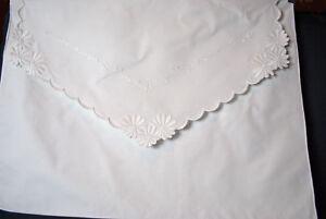 Antiguedad-Almohada-Sobres-Almohada-Fundas-Whitework-Bordado-Flores-y-Vinas
