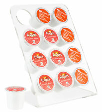 Acrylic K-Cup Holder, Sleek Modern Kitchen Counter Stand for Coffee Pods & K-cup