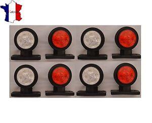 4 X 12V SMD LED ROUGE BLANC FEUX DE GABARIT POSITION CAMION REMORQUE BUS VAN