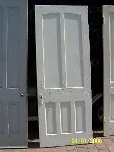 C1860 Arched Raised Panel Door W Casing Jamb 87 X 33 Ebay