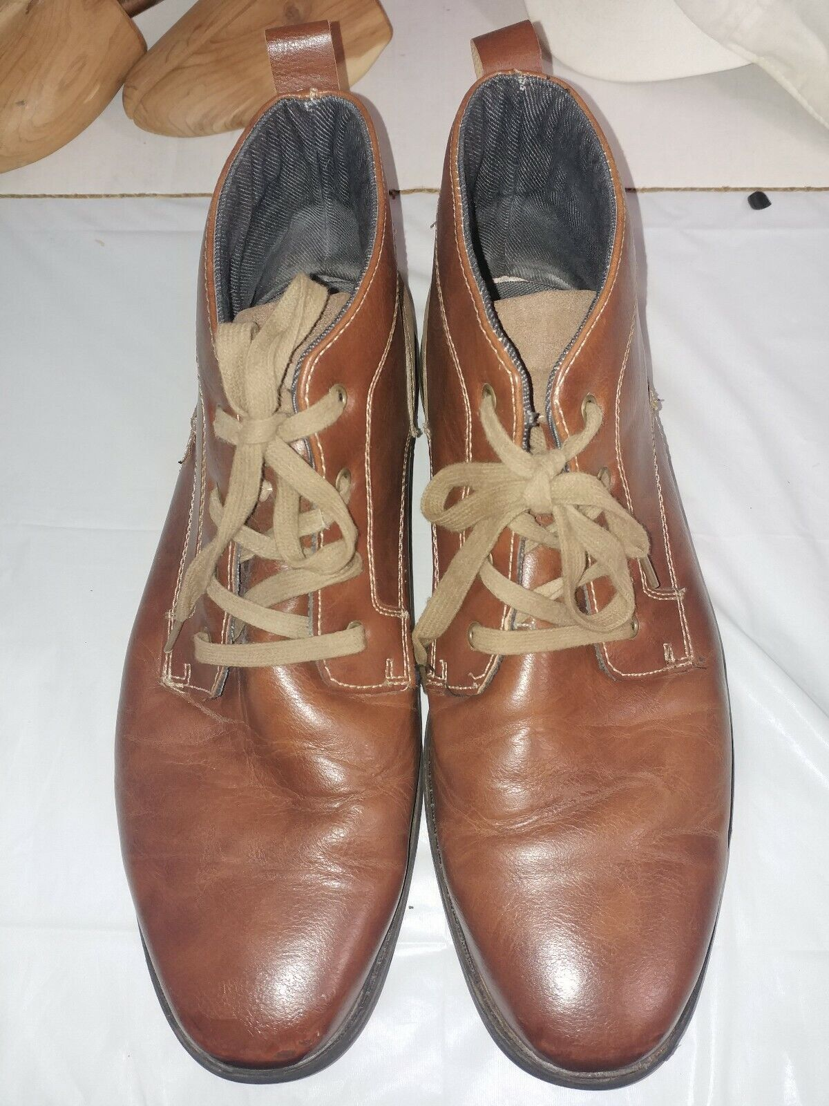 FILA LEATHER Brown HIGH ANKLE BOOTS MEN SIZE 13