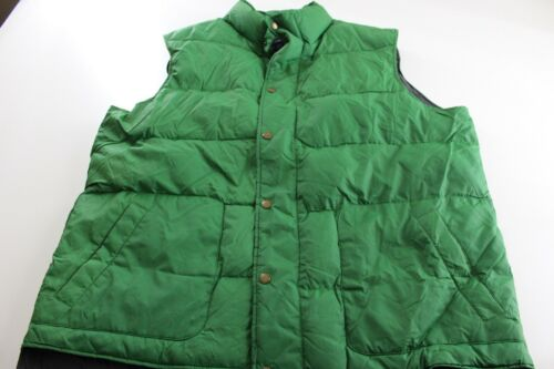 Lands End Apple Green Quilted Down Puffy SWEATER V