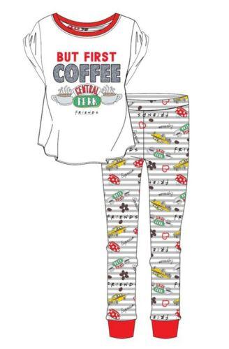 Women/'s Girl/'s Friends BUT FIRST COFFEE Pyjamas set PjS 8-10 to 20-22