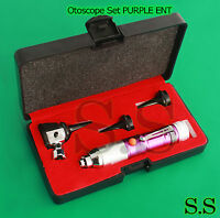 Otoscope Set Purple Ent Medical Diagnostic Instruments (batteries Not Included)