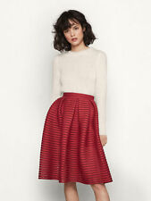 NWT Maje Bubble Red Skirt Size T1 XS US 0 SEEN ON CELEBRITIES