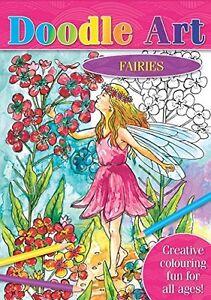 Details about Brown Watson Doodle Art Colouring Book - FAIRIES, 23 Designs  to Colour