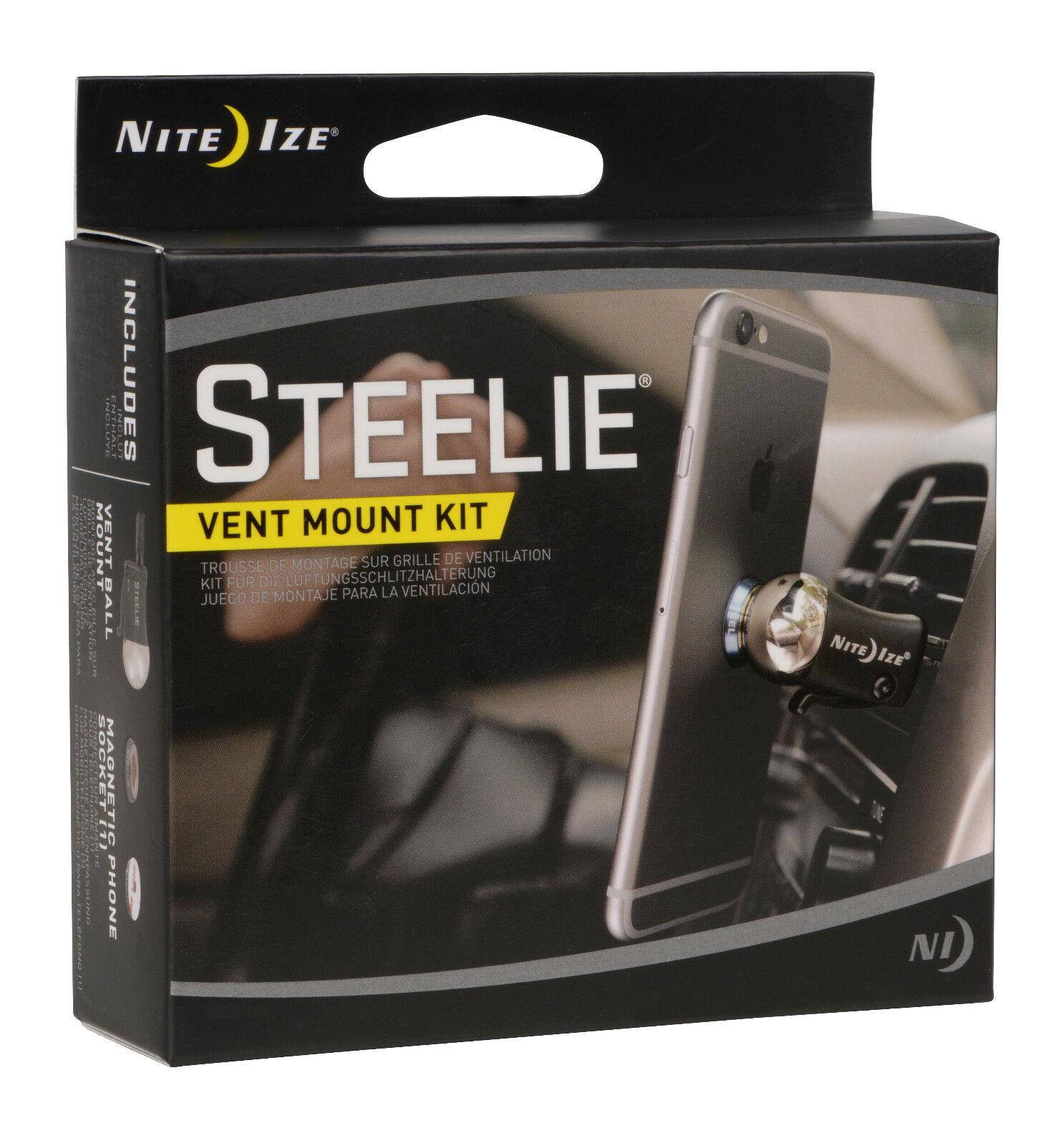 Nite Ize Steelie Vehicle Vent Car Mount Kit For Mobile Devices STVK-11-R8 NEW