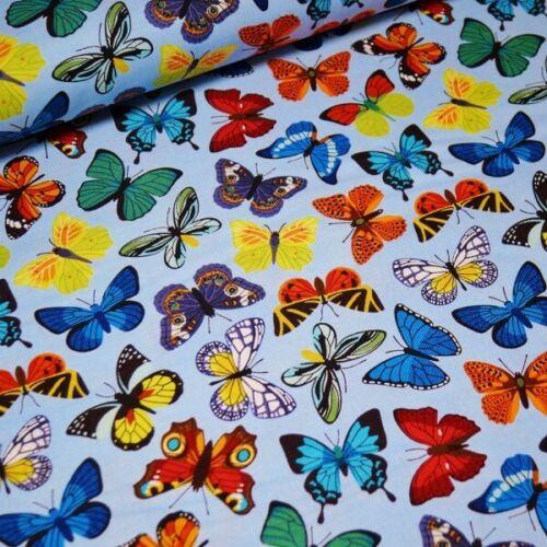 100/% Algodón Tela John Louden Brillante Mariposa mariposas revoloteando insectos