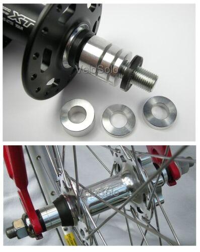 CNC M10 Hub Axle SPACER KIT 110 120 126 130mm track fixed MTB wheel 10mm 5mm 3mm
