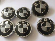 6 x NERO FIBRA DI CARBONIO COMPLETO BADGE Set per BMW 1 3 5 Z3 Z4 X3 E36 E46 E90