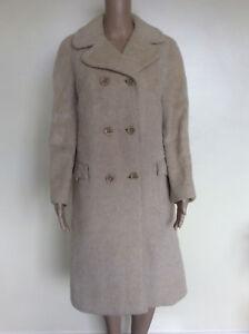 des Manteau années de vintage laine lama années des des années 1970 1970 de 1970 des pur années crème 1960 taille PrPzdwqx