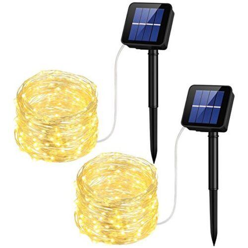 2 100LED Solar Powered String Lights For Garden Fairy Summer Lamp Waterproof 30f