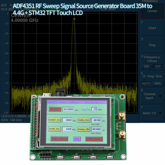 Adf4351 RF Sweep Signal Source Generator Board 35m-4 4g Stm32 TFT Touch LCD