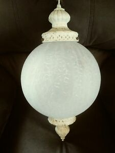 Vintage Underwriters Laboratories Globe Hanging Ceiling Light Lamp ...
