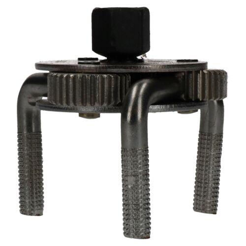 """Clé pour filtre à huile réglable remover tool 3 pattes 3//8/"""" 1//2/"""" 65-120mm"""