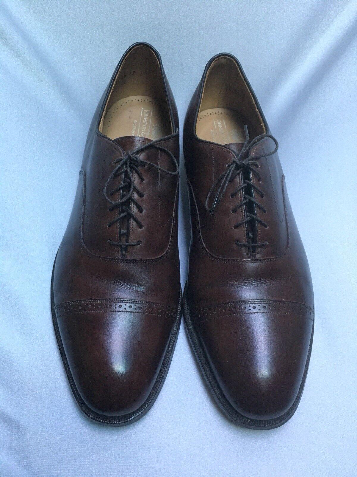 Zapatos de vestir Johnston Murphy para hombres Oxford Cuero Con Cordones Marrón Puntera 13 d b