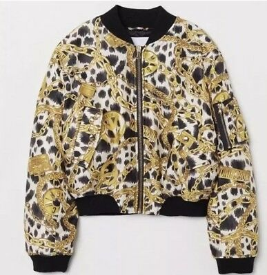 Moschino Teddy Chain Bomber Jacket